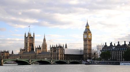London, England - April 2010: Westminster Bridge with Big Ben in London