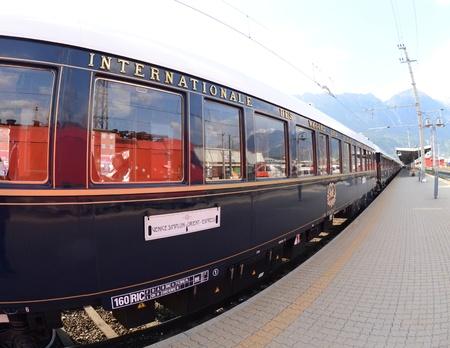 innsbruck,austria,may 2011:the venice simplon-orient-express in innsbruck