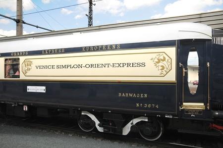 innsbruck,austria,may 2011:the venice simplon-orient-express in innsbruck Stock Photo - 9538734