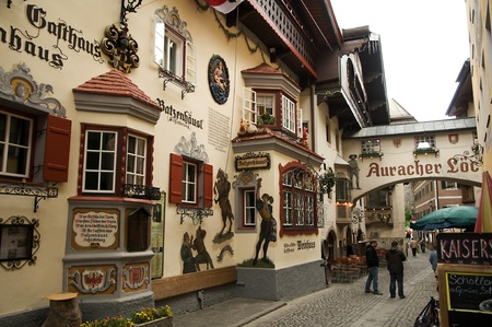 pictoresque: Kufstein,austria, may 2011:painted houses in the streets of kufstein Editorial