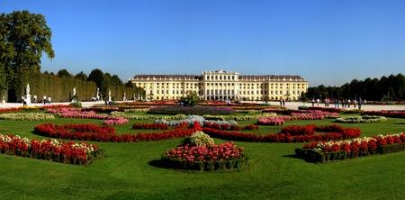 versailles: Schonbrunn beauty gardens Stock Photo