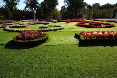 woodland sculpture: Schonbrunn gardens - mown lawn Stock Photo