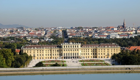 woodland sculpture: Schonbrunn palace - panorama of Vienna