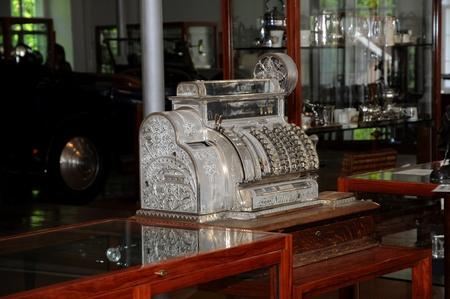 Vintage cash register - exhibition at the Rolls Royce  Museum in Dornbirn: Austria May 2010