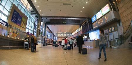 Krakow, Poland - April 2012:Check-in in Krakow airport