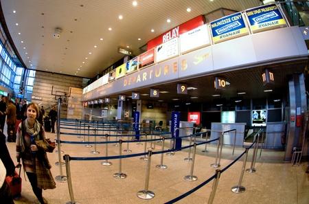 Krakow, Poland - April 2012:Check-in in Krakow airport Stock Photo - 13256788