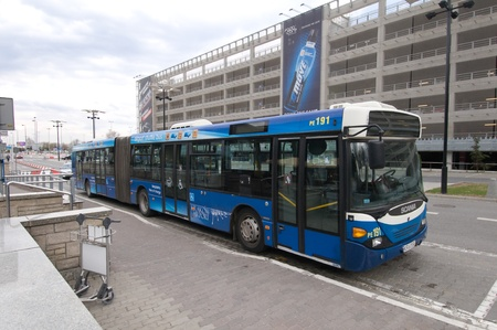 Krakow, Poland - April 2012: Airport service - bus