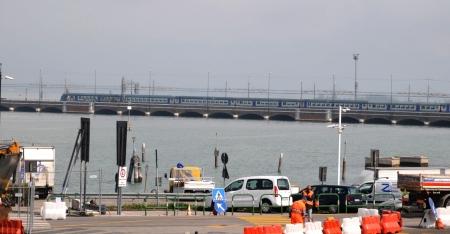 Venice Italy april 2012: Ponte Della Liberta