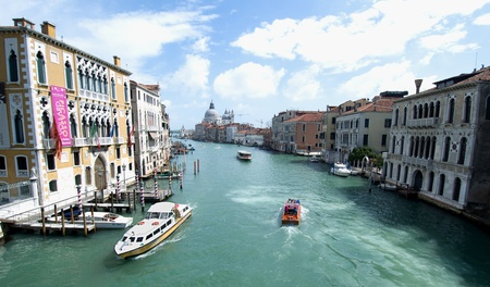 Venice Italy April 2012: Grand canal Editorial