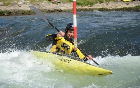 Liptovsky Mikulas - Slovakia Mai 2012: Whitewater slalom