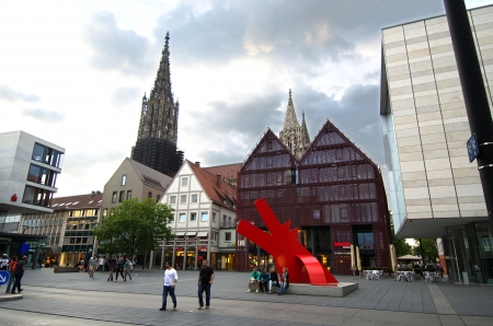 Ulm Germany Mai 2012  Square in a new way