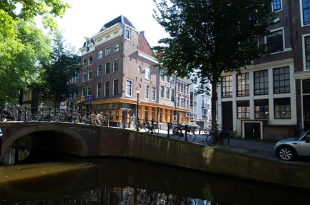 Amsterdam Holland 2012: Typical atmosphere in the city center