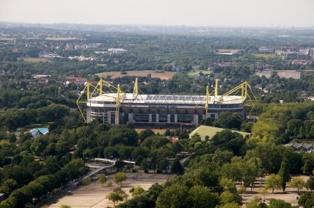 Dortmund Germany September 2012:Borusseum stadium - aerial view