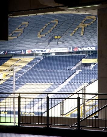 Dortmund Germany September 2012:Empty Borusseum stadium