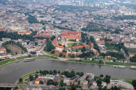 Cracow Poland Juni 2013 Wawel Castle, Vistula river in Krakow, Poland photo