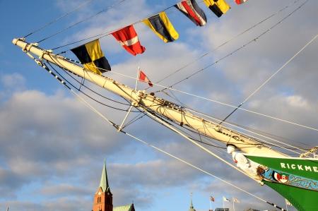 sailer: Hamburg Germany June 2013:Ship Rickmer Rickmers in Hamburg port - figurehead Editorial