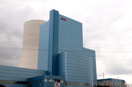 Datteln Germany juny 2013:New Construction at the Datteln Power Plant 4