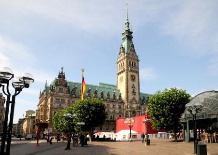 mayoral: Hamburg Germany september 2012 Hamburg city hall Editorial