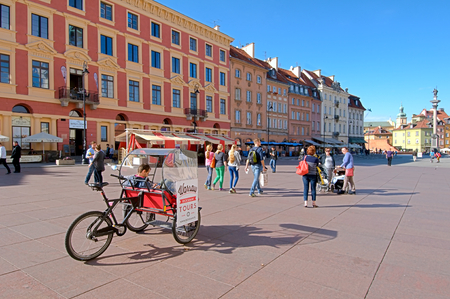 Warsaw Poland september 2014: Old Market Square in Warsaw