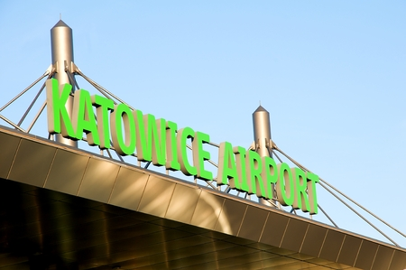 PYRZOWICE, POLAND - november 2015: Exterier KatowiceKatowice airport - Terminal A
