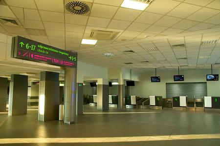 PYRZOWICE, POLAND - november 2015: Interier KatowiceKatowice airport - Terminal A