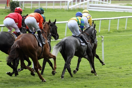 details of a Horse Racing Stock Photo