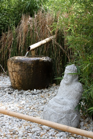 details of a  japanese garden Stock Photo