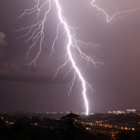 details of a lightning  photo