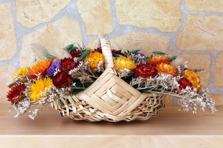 fiori secchi: dettagli di un bouquet di fiori secchi
