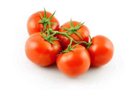 details of grape tomato isolated on white