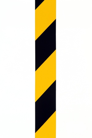 hazard tape: details of security tape use for marking safety area