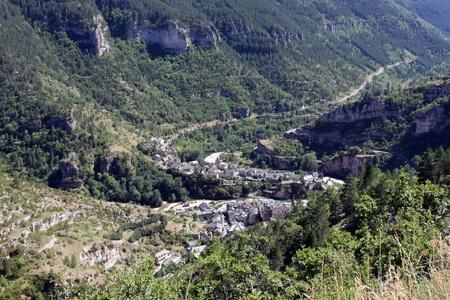 detalles de Sainte-Enimie, una comuna en el departamento de Lozre en el sur de Francia