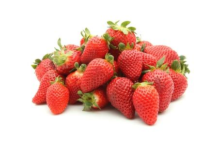 detalles de fresas aisladas en blanco