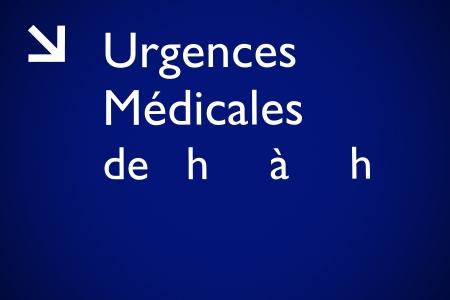 urgencias medicas: Detalles de un signo de emergencia m�dica.
