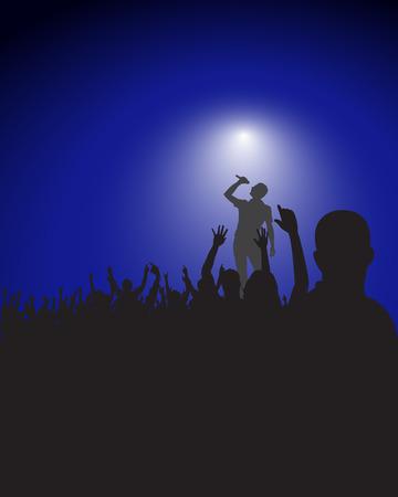 bij het concert Stock Illustratie
