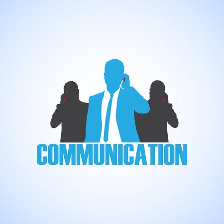 at communication: communication Illustration