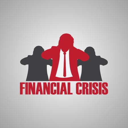 financial crisis Ilustração