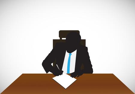 man working in the office Ilustração