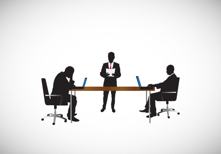 men working at the office