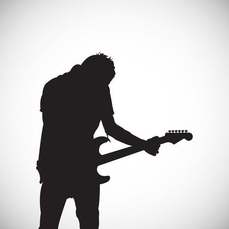 silhouette of musician Ilustração