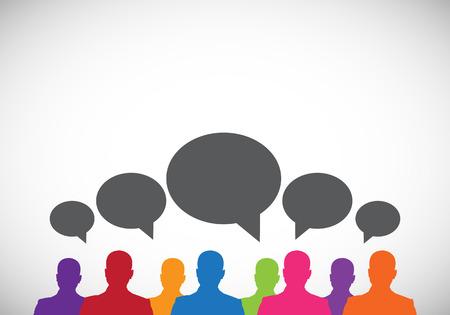 mensen communicatie Stock Illustratie