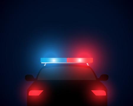 achteraanzicht politieauto Stock Illustratie