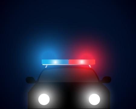 enforcement: front view police car