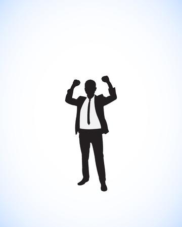 businessman success posture