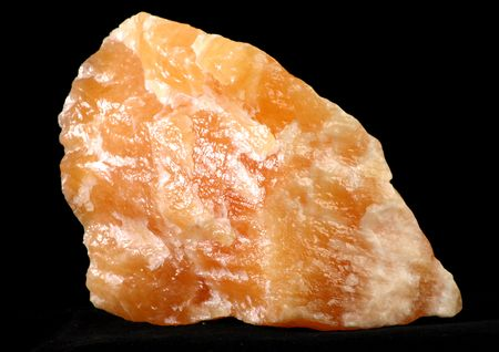 calcite: Orange Calcite Stock Photo