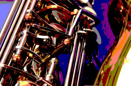 woodwind: pop art sax