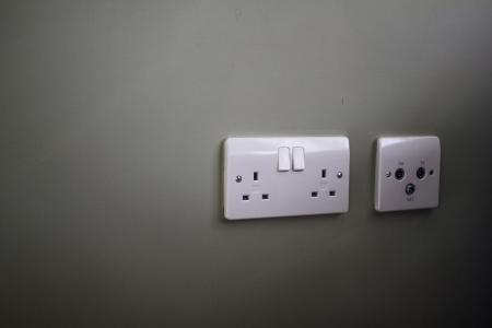wall socket: Wall socket and antenna outlet