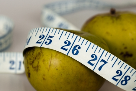 Apples and tape measure Stock Photo - 19890554