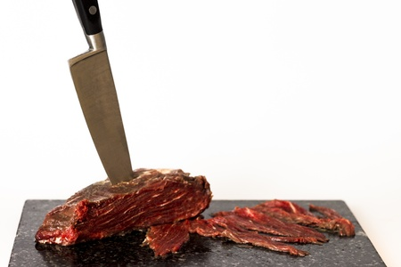 primal: Fillet steak on chopping board