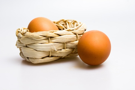 Eggs and basket Stock Photo - 20165010